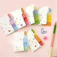 2014 New Beautiful Rainbow Memo Pads Mini Cute Sticky Notes School Supplies Memos for Students