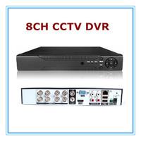 8 Channel Standalone CCTV DVR 2ch D1+6ch CIF Security System 8 CH DVR Recorder H.264 VGA HDMI Plastic Shell