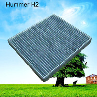 C45527 wholesale car black carbon cabin air stainless steel filter for America car of Hummer 26.8*23.6*2.5cm WIX24814