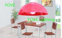 Modern Single Head Pendant Lights Abajur 6 Colored Acrylic Lustres E Pendentes Lamps Ikea Supermarket Lampshade Home Lighting