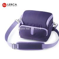 Freeshipping-Fashion LERCA Violet Digital Camera Shoulder Bag Case For Nikon P600,D7000,D90,D610,D300S,AW120S,AW110S,S9600,S8000