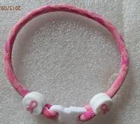 Wholesale Price --pink camo  Breast Cancer Awareness Bracelet 6/7/8/9inch single  bracelet Christmas Gift