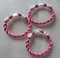 Wholesale Price --pink camo  Breast Cancer Awareness Bracelet 6/7/8/9inch Twist   bracelet Christmas Gift