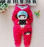 Children's clothing autumn 2014 female child long-sleeve set baby clothes 6 0-1 - 2 - 3 girls clothing