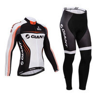 2014 NEW GIANT winter Warm Fleece Thermal Cycling Jersey  bicicleta Ropa ciclismo  bicycle bike maillot long clothing _bib) pant