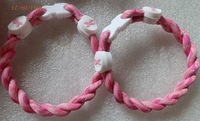 Pink camo  Breast Cancer Awareness Bracelet 6/7/8/9inch Twist   bracelet Christmas Gift free shipping
