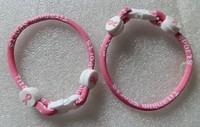 Titanium sports  Cancer Awareness Bracelet 6/7/8/9inch single   bracelet Christmas Gift free shipping