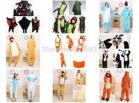 Animal Romper Mens Ladies Fleece Suits Onsie Fancy Dress Costume Onesie Pajamas