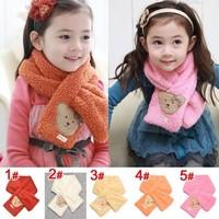 Free shipping 1piece soft velvet Children's kids Scarf, Winter girl Ring Collar Neck Warmer Muffler Baby Girls Knitted O-Scarf