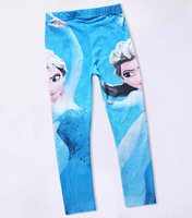aoth121 new 2014 casual 4-9 age girls frozen pants many style available kids frozen leggings free shipping 6pcs/ lot