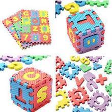 Nuevo 2014 Creativo Número Cartas Mat For Kids Classic Puzzle Juguetes para niños 36pc mini juguetes educativos Espuma Rompecabezas(China (Mainland))