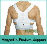 L-XXL Unisex Woman Man Magnetic Posture Support Corrector Back Pain Feel Young Brace Shoulder Belt Band
