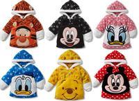 Retail 2015 New children clothing girls boys baby leisure Fleece Duck Hoodies kids Sweatshirts coats