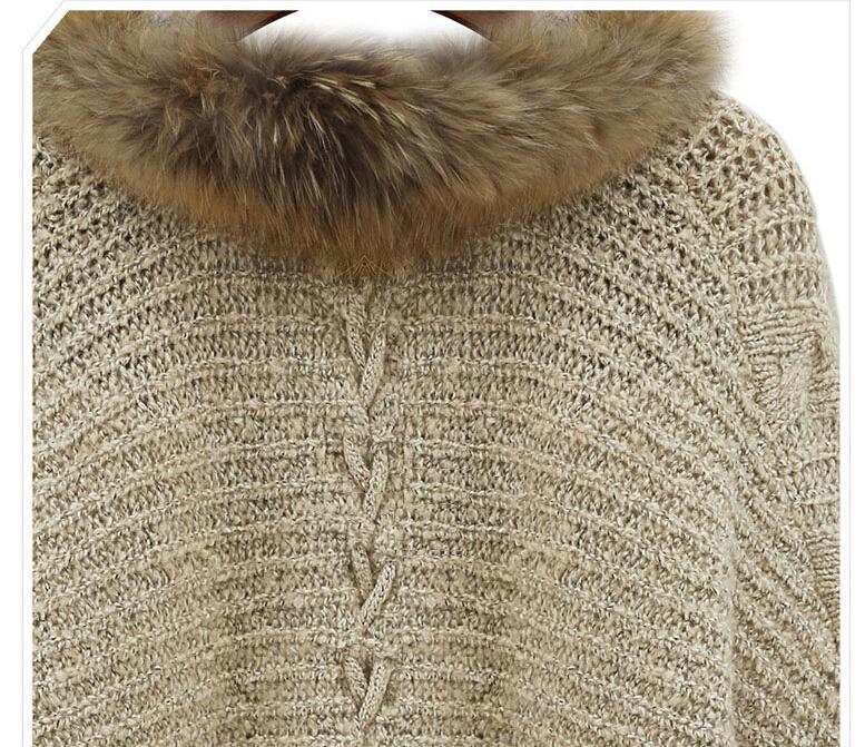 New 2014 Autumn Winter Fashion Women Elegent Loose Plus Size Faux Fur Cardigan Knitwear Sweater Lady Batwing Sleeve Outwear