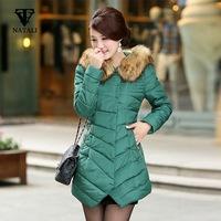 2014 winter  new  woman long design  faux fur hooded  down coat  plus size irregular sweep  warm coat  down jacket  M-3XL C851