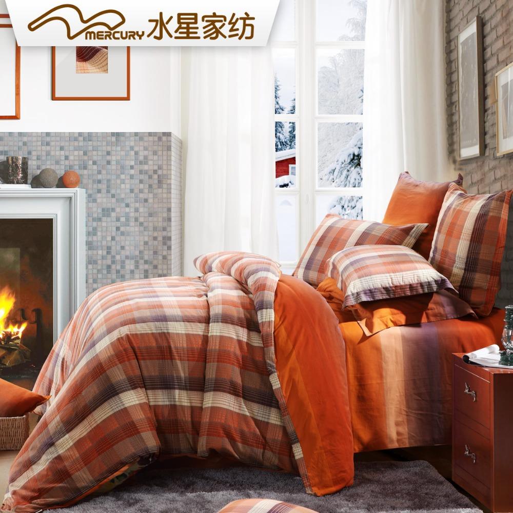 Grátis frete Mercury têxtil de moda em praga 100% algodão lixar impresso conjunto de cama com 4 pcs folha de cama capa de edredão(China (Mainland))