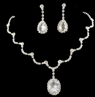 New bridal jewelry necklace earrings set new color