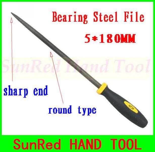 SunRed BESTIR taiwan made bearing steel 5*180MM round type mechanics files metal crafts hand tools NO.07052 freeshipping(China (Mainland))