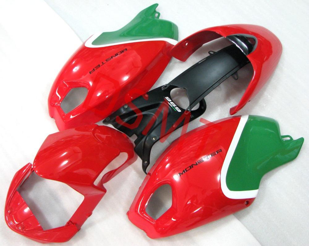 carenagem kit de peças para Ducati Monster 696 carenagens 696 795 796 M1100 2009-2013 09 10 11 12 13(China (Mainland))