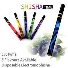 5pcs/lot E shisha pen 500 Puffs 5 flavors disposable electronic cigarette e-cigarette e cig hookah ego With Diamond Led Light
