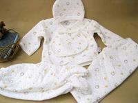 5pcs / set Top quality 100% cotton clothes set for new bron baby,infant  clothes winter set hat+bib+2pcs pants+top,Free shipping