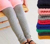 Drop shipping New Girls Leggings Winter Thick Warm Solid Color Elastic Waist Pants Trousers Children Fleece Leggings 8 Colors