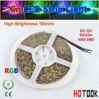 neon led light 5m RGB LED Strip Light 12V 5050 chip 300 LEDs 60leds/M IP65 waterproof tiras for christmas decoratioin led lamp
