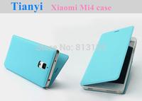 """Xiaomi Mi4 case,flip leather (PU) back cover for Xiaomi 4 M4 Mi4 5.0"""" quad core mobile phone"""