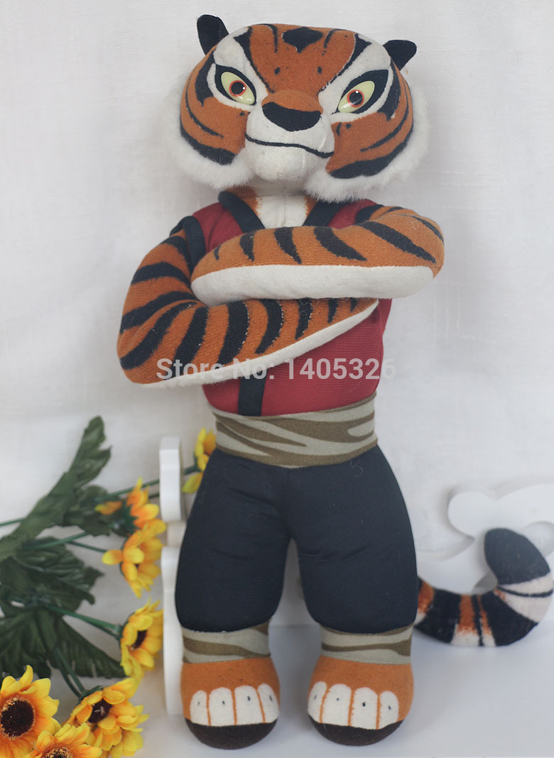 one piece the Kung Fu Panda tiger simulation plush toys for children birthday gifts doll(China (Mainland))