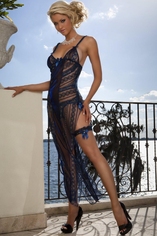 Эротическое длинное платье прозрачное 3 фотография