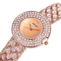 Upstart Watch& New Brand Watches Fashion Diamante 4 Color Female Luxury Stainless Steel Lady Quartz Watches