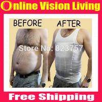 Free Ship Mens Slimming Body Shaper Bellly Buster Underear Vist Compression S M L XL XXL A0515