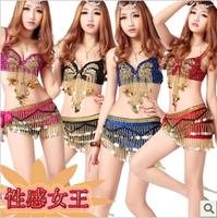 2014  Paillette Split Latin Dance Costumes Sexy Bikini Steel Pipe DS Suite Sexy Clothes Sale Price XTZ032