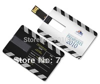 Free Shipping DHL/EMS Gift  2GB 4GB 8GB Credit card USB flash driver and Free logo printing key usb flash driver