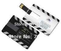 Free Shipping DHL/EMS Gift  2GB 4GB 8GB Credit card USB flash driver and Free logo printing key usb flash driver