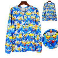 Sweatshirt 3d women/men harajuku hoodie cute cartoon print donald duck sweatshirt plus size hoodies free shipping Nora05477