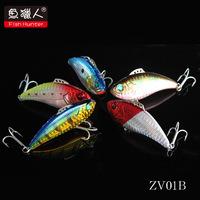 Fish Hunter ZV01B Vib Hard Fishing Lures  60mm/12.5g  Vibration 3D eyes Laser Body