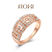 ROXI  Wholesale fashion Rose Gold Plated Austrian crystal Ring ,new arrival factory prices RO33