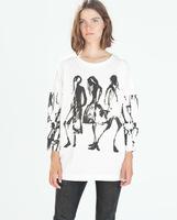 Fashion girl print sweatshirt 2014 new arrival women sweatshirts high street women clothing Sweatshirts free shipping
