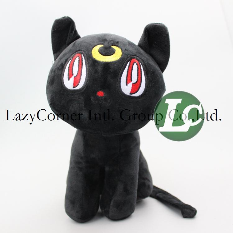 5pcs/lot Luna Soft Plush Toy Japanese Anime Cartoon Sailor Moon Cat Soft Stuffed Animal Doll 26cm(China (Mainland))