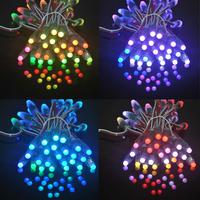 LED holiday lights 100pcs/lot 12mm ws2811 led pixel  rgb waterproof  module dc5v IP65 module