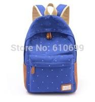 Canvas shoulder bag Korean female college wind leisure travel backpack schoolbag Japanese Polka Dot