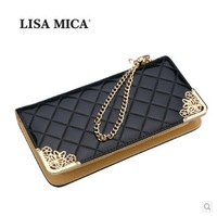 The new 2014 female han edition retro fashion women's handbags wallet long zipper patent leather wallet