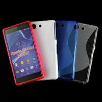 20pcs/lot Free Shipping New S Line TPU Soft back Case Cover For Sony Xperia Z3 Compact Z3 Mini