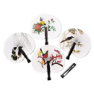 2014 New Beautiful Wedding Decoration Paper Folding Fan Practical Party Supplies Hand Fan(China (Mainland))