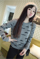 Korean 2014 new women's winter fleece sweater casual round neck sweater hedging female sweatshirt AY851908