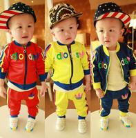 Hot !100% brand fashion autumn  Children Kids sport suit baby boy two-piece suit boys and girls Sport clothes