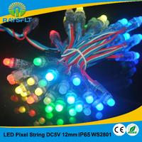 LED decorative string lighting 50pcs/lot 12mm ws2801 module IP65 waterproof led module dc5v colorful module