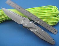 Free Shipping New Arrival Great Work 100% Kevin John Brand SOCOM S35VN Blade full tianium Handle Folding knife  Bearings System