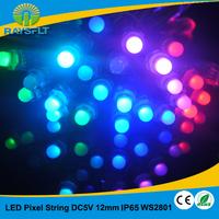 String lights decoration 100pcs/lot 12mm ws2801 led pixel full color led module IP65 dc5v waterproof pixel module